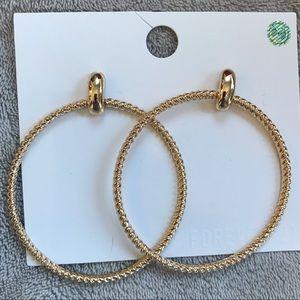 Gold hoop earrings F21